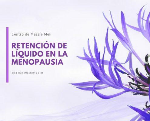 Retención de líquido en la menopausia.